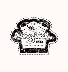 motor club emblem for t-shirt vector image