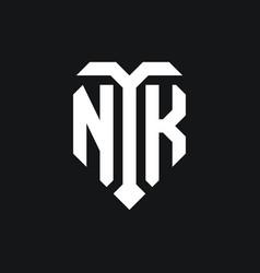 Nk logo monogram design template vector