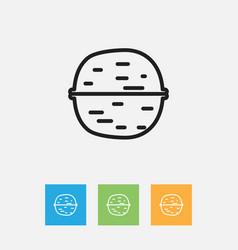 Of cooking symbol on pecan vector