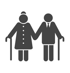 Older couple icon vector
