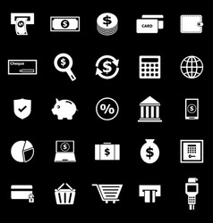 Payment icons on black background vector
