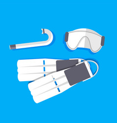 retro flat diving tools icon concept vector image