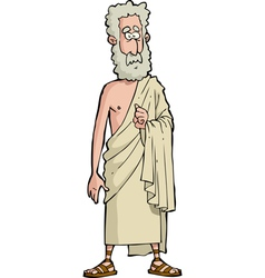 roman philosopher vector image