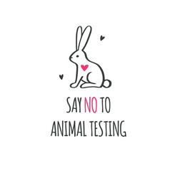 say no to animal testing cruelty free vector image