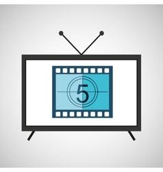 screen tv movie strip countdown film vector image