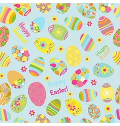 seamless multicolored pattern easter eggs vector image