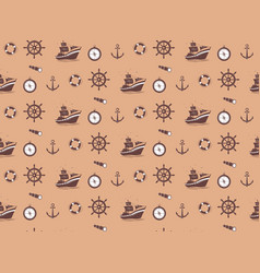 seamless pattern - marine theme vector image