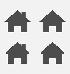 Set of home icons Home sign symbol vector