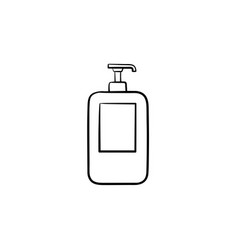 shampoo hand drawn sketch icon vector image