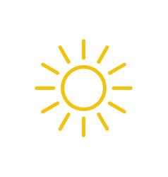 sun icon line summer symbol trendy flat o vector image