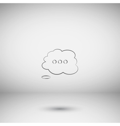 Thought cloud with lines vector image