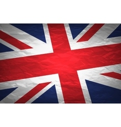 Union Jack on crumpled paper background Vintage vector