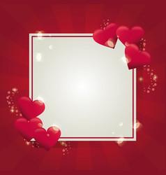 valentines frame design vector image