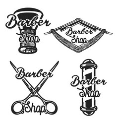Vintage barber shop emblems vector