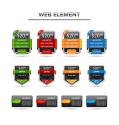 web element e-comerce set vector image