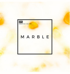 white marble with gold spots vector image