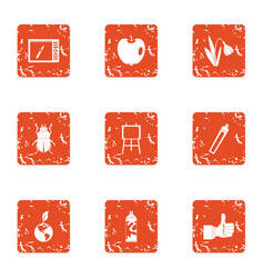 Woodless resident icons set grunge style vector