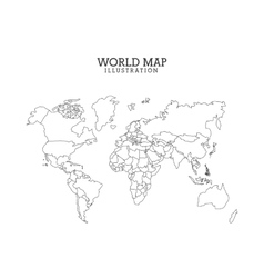 world map design vector image vector image