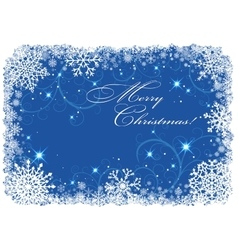 Christmas frame with snowflakes vector image vector image