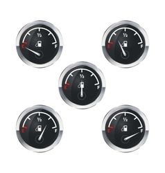 Modern fuel indicators isolated on white vector image