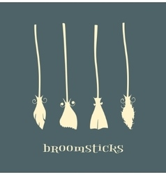 witch broomstick vector image vector image
