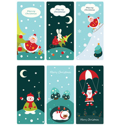 Christmas cute banners vector