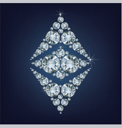 ethereum symbol made a lot of diamonds vector image vector image