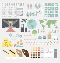 Infographics convention plan vector image