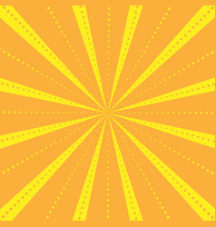 Rays striped with dots pattern with light burst vector