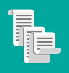 Receipt icon paper invoice total bill vector