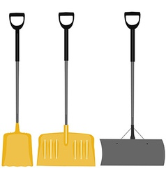Snow shovel set vector image vector image