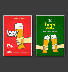 beer party poster vector image vector image
