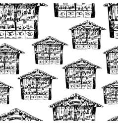 Christmas fair pattern vector image vector image