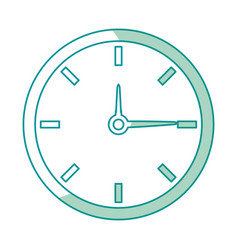 clock time watch hour date minute vector image vector image