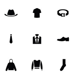 man wear 9 icons set vector image vector image