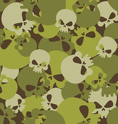 Military texture of skulls Camouflage army vector image