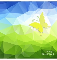polygonal pattern and butterfly vector image vector image