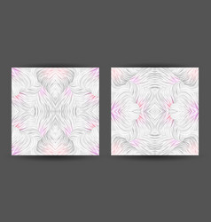 set abstract pattern seamless line art tracery vector image