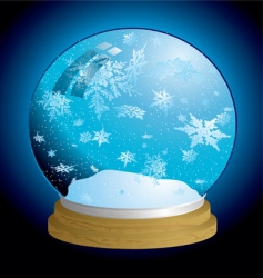 snow globe light vector image vector image