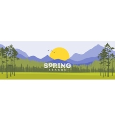 Spring Background Forest with Shining Sun Travel vector image vector image