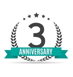 Template Logo 3 Years Anniversary vector image vector image