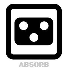 Absorb conceptual graphic icon vector