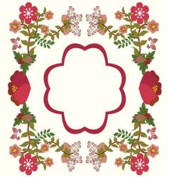 flower frame background vintage vector image vector image