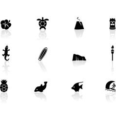 Hawaii icons vector image