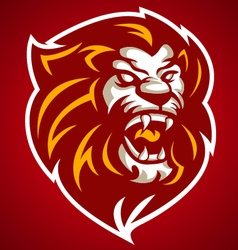 lion red head logo 10092016 vector image
