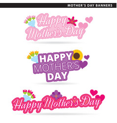 mothers day banners vector image vector image