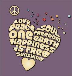 peace heart graphic vector image vector image