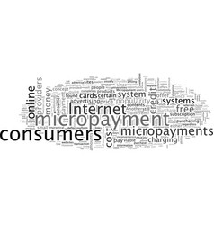 a closer look at micropayments vector image