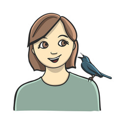 a little bird told me happy vector image