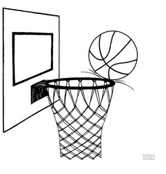 Action of basket ball missing vector